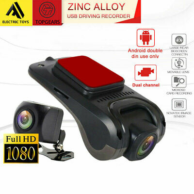 Topgears Zinc Alloy USB dash camera for android double din 2 din systems 1080P