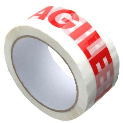 Fragile Parcel Tape 48mm x 66M Packing Sticky Selotape Rolls - FAST DISPATCH!