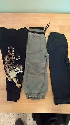 3 pairs of boys trousers, age 2-3,