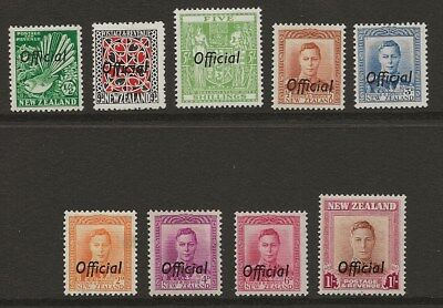 New Zealand  Selection Of Gvi Officials   Fresh Mounted Mint