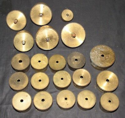 Job Lot Of Brass Antique Clock Spring Barrels