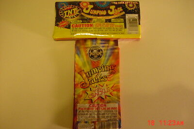 Jumping Jacks and Jumping Jacks with Crackle Firework Firecracker Labels NEW!