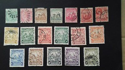 stamps Barbados Queen Victoria & George V Used