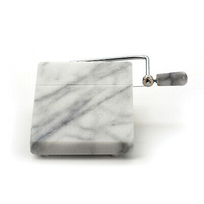 "RSVP 8"" x 5"" White Marble Cheese Slicer Board"