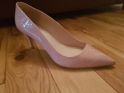 Ladies Jones Pink Leather Court Shoe Codie Size 39/6 Lightly Worn With Box