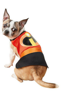 Pet Dog Incredibles 2 Pet Costume Fancy Dress Costume Outfit Rubies Disney XS