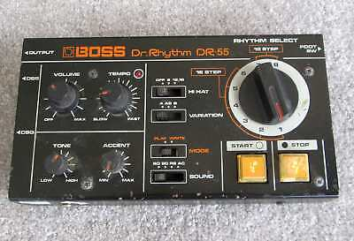 Vintage Boss DR-55 rhythm box as-is for parts/repair