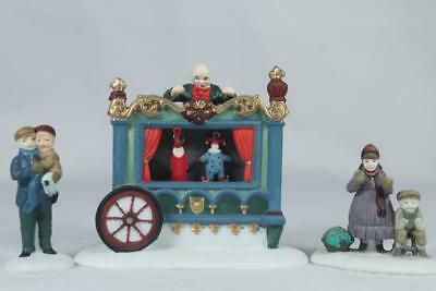 Dept 56 Heritage Village 'The Old Puppeteer' 3 Piece Set #5802-5 No Sleeve