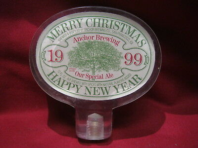 Anchor Brewing Company Merry Christmas Happy New Year 1999 Beer Tap Handle Keg