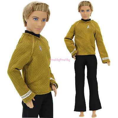 Handmade Men Outfit Coat Trousers Shirt Pants Clothes For Barbie Ken Doll Toy G