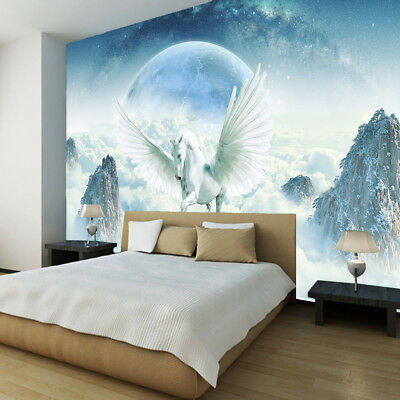Unicorn Pegasus Horse Wallpaper photo wall mural children kids room decoration s
