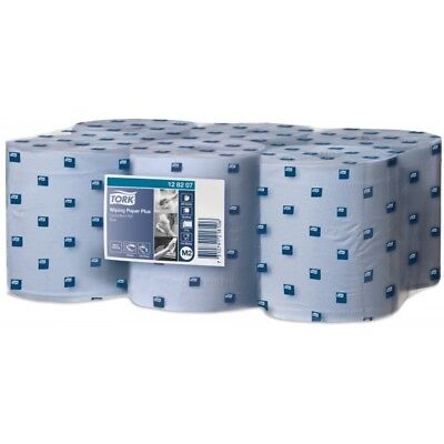 2 Ply Advanced Centrefeed Wiping Paper Plus - Blue - 6 x 157.5m Rolls