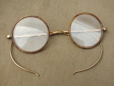 Antique Gold Plated Spectacles / Glasses With Faux Tortoiseshell Surrounds