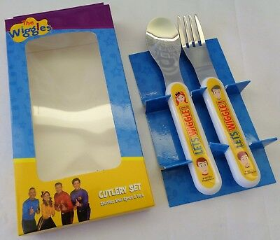 THE WIGGLES... New Spoon + Fork Cutlery Set, New/Boxed, Age 12+ Mths, Yellow