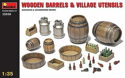 Wooden barrels & village utensils << MiniArt #35550, 1:35 scale