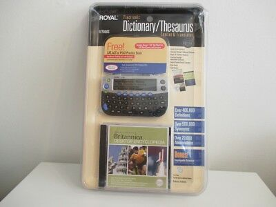 NEW Royal Electronic Dictionary/Thesaurus Speller & Translator RP7000S w/CD MINT