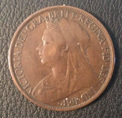1896 Great Britain One Penny Victoria