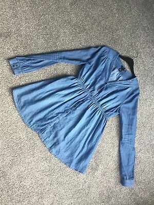 H&m Mama Maternity Denim Shirt Top Size Small 10 Blue Buttons