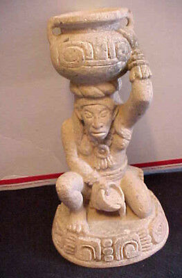 Pre-Columbian Style Incense Burner, Wonwn With Basket On Her Head  Age ???