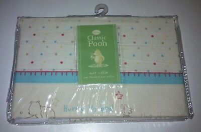 Disney Classic Pooh Piglet Crib Dust Ruffle A Bear And His Things NIP