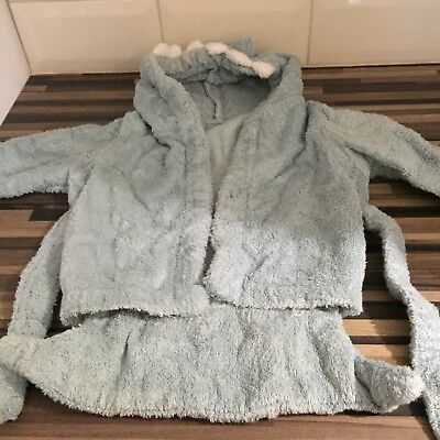 Towel Dressing Gown 0-6 Months