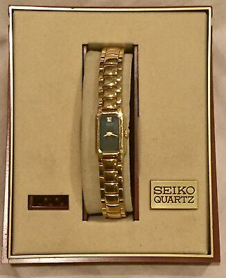 Vintage Seiko Gold Tone Base Metal 2E20-6249 RO New Battery Works Great