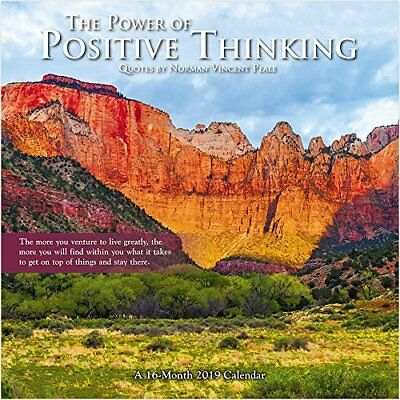 Power Of Positive Thinking - 2019 Wall Calendar - Brand New - Inspire Hth257
