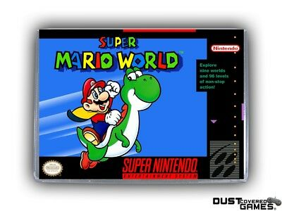 Super Mario World SNES Super Nintendo Game Case Box Cover Brand New Pro Quality!