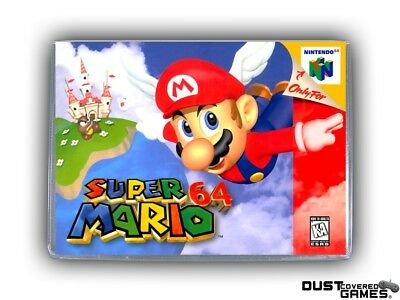 Super Mario 64 N64 Nintendo 64 Game Case Box Cover Brand New Pro Quality!!!