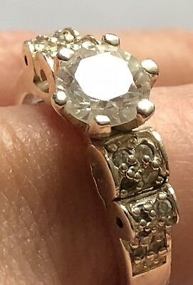 Vintage 925 Sterling Silver Ring Size 7 With Unknown Stones