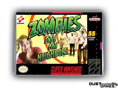 Zombies Ate My Neighbors SNES Super Nintendo Game Case Box Cover Brand New Pro!!