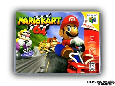 Mario Kart 64 N64 Nintendo 64 Game Case Box Cover Brand New Professional Quality