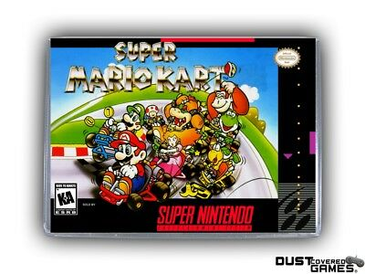 Super Mario Kart SNES Super Nintendo Game Case Box Cover Brand New Pro Quality!!