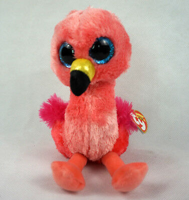 "6"" TY Beanie Boos Gilda With tag 2017 Red Flamingo Toys Plush Stuffed Animals"
