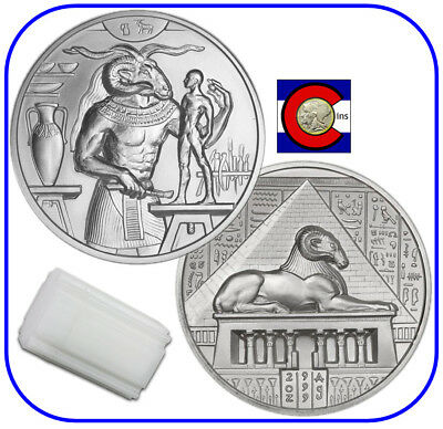 Khnum 2 oz Silver Coin - 10 coin tube - Egyptian Gods Series