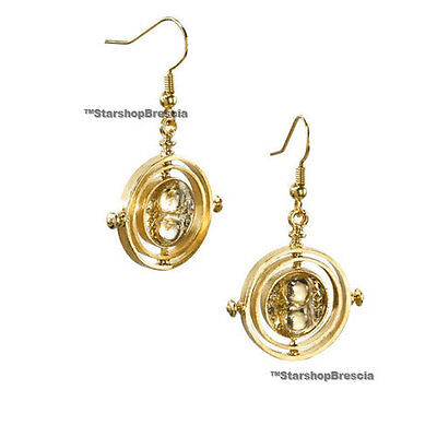 HARRY POTTER De Hermione Time Turner Earrings Gold Plated Pendientes Giratiempo