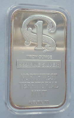 USA Barren Northwest Territorial Mint  one troy ounce 999, rare collectible bar