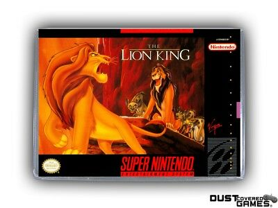 The Lion King SNES Super Nintendo Game Case Box Cover Brand New Pro Quality!!!