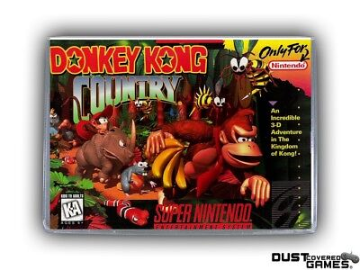 Donkey Kong Country SNES Super Nintendo Game Case Box Cover Brand New Quality!!!