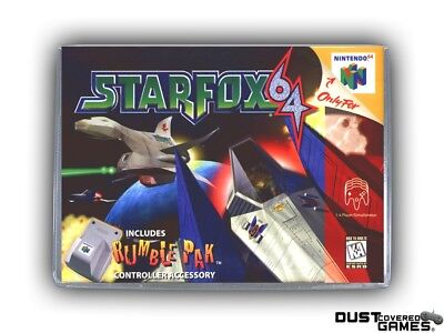 Starfox 64 N64 Nintendo 64 Game Case Box Cover Brand New Professional Quality!!!