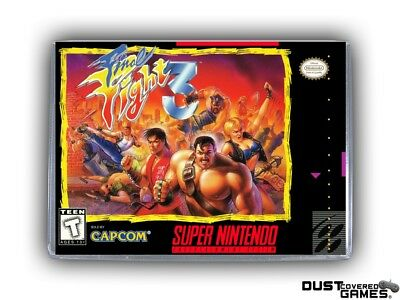 Final Fight 3 SNES Super Nintendo Game Case Box Cover Brand New Pro Quality!!!