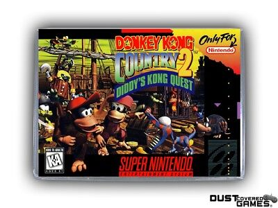 Donkey Kong Country 2: Diddy's Kong Quest SNES Super Nintendo Game Case Box New!