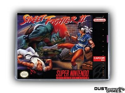 Street Fighter 2 SNES Super Nintendo Game Case Box Cover Brand New Pro Quality!!
