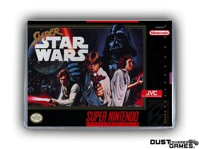 Super Star Wars SNES Super Nintendo Game Case Box Cover Brand New Pro Quality!!!