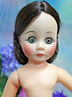 Madame Alexander VINTAGE LISSY DOLL brunette rooted hair NO CLOTHES high color
