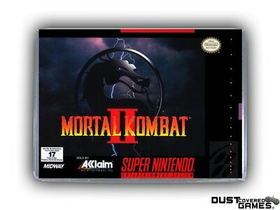Mortal Kombat 2 SNES Super Nintendo Game Case Box Cover Brand New Pro Quality!!!