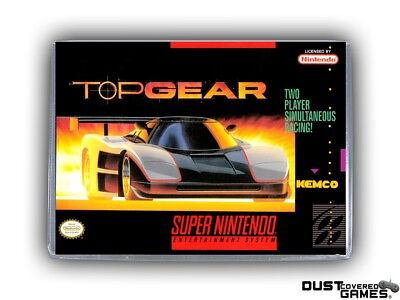 Top Gear SNES Super Nintendo Game Case Box Cover Brand New Professional Quality!