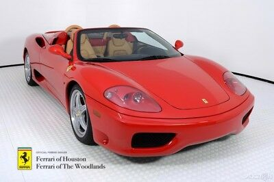 Ferrari 360 Spider F1 2004 FERRARI 360 SPIDER, ROSSO CORSA OVER BEIGE, SERVICED, LESS THAN 5,000 MILES