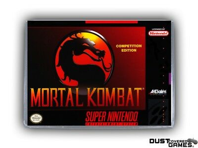 Mortal Kombat SNES Super Nintendo Game Case Box Cover Brand New Pro Quality!!!