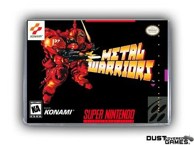 Metal Warriors SNES Super Nintendo Game Case Box Cover Brand New Pro Quality!!!